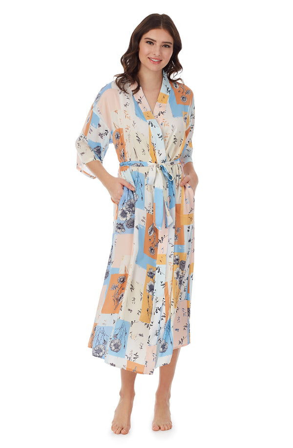 Multi Patchwork Maxi Pj Robe
