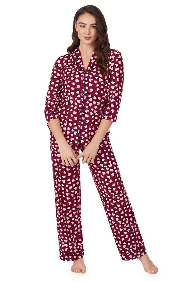 Long Sleeve Shawl Collar Pj set