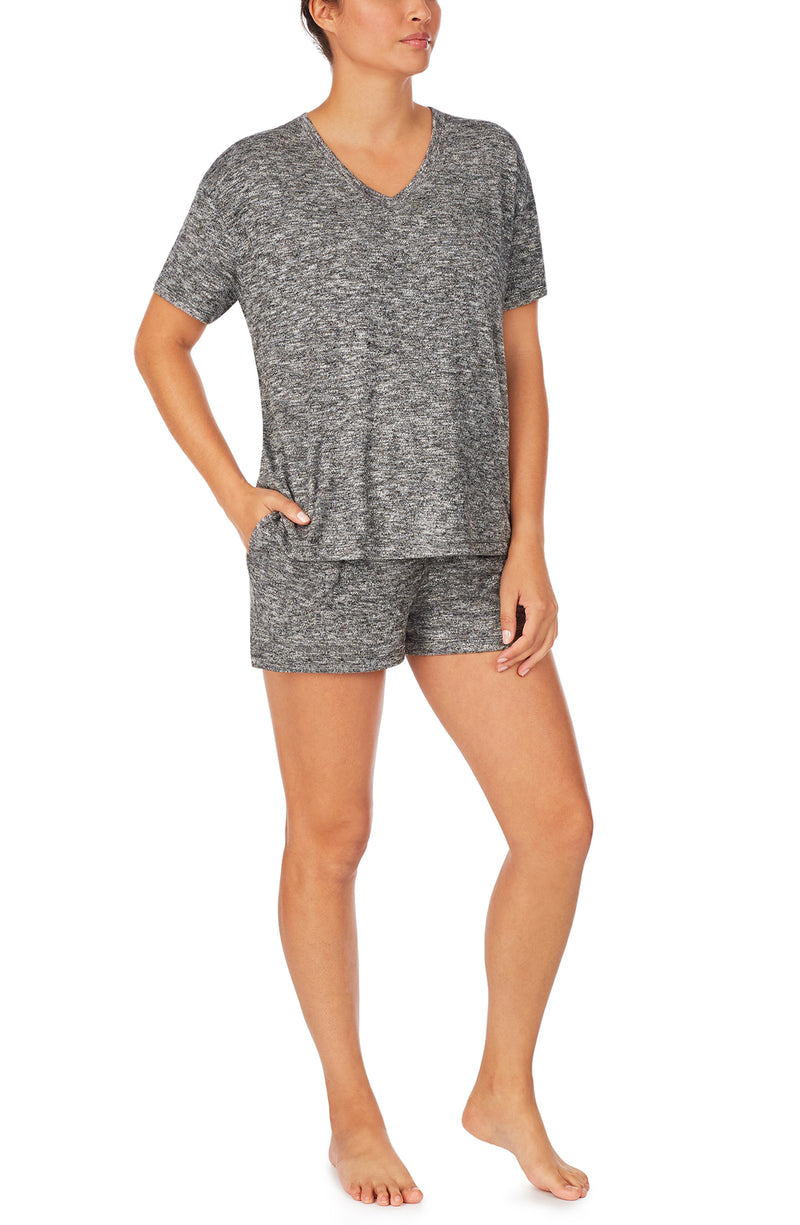 Short Sleeve Tee & Boxer Pj Set With Eyemask