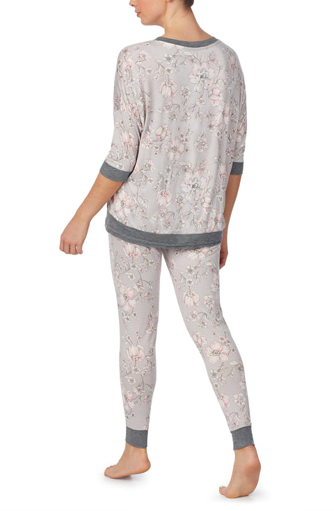 3/4 Sleeve Top & Slim Pant Pj set