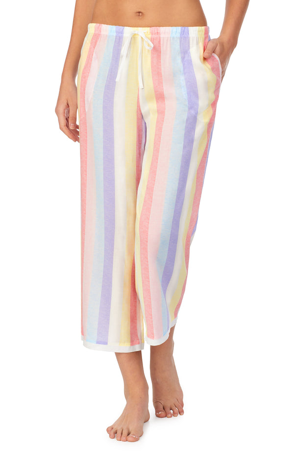 Room service Pjs Multi Stripe Crop Pant Pajamas
