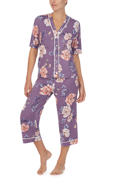 Button Down & Capri Pj Set