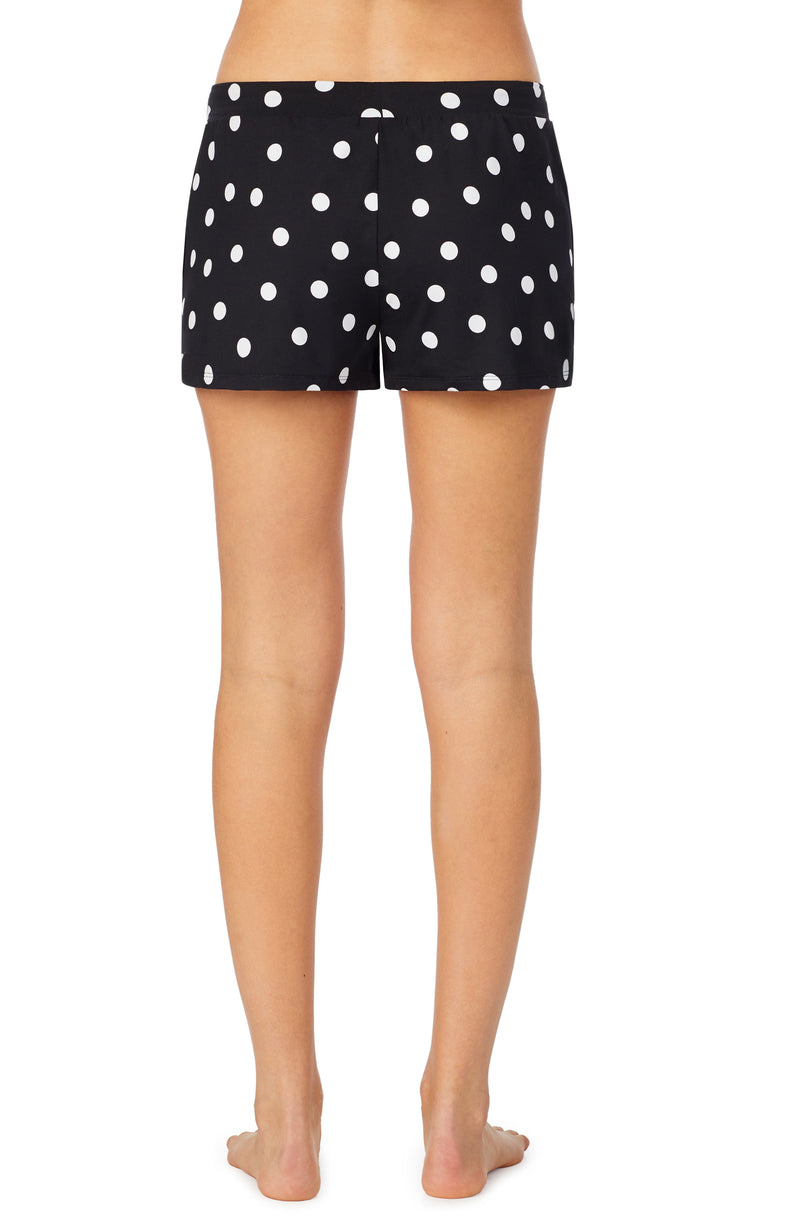 room service pjs black coin dot boxer sleepwear bottom