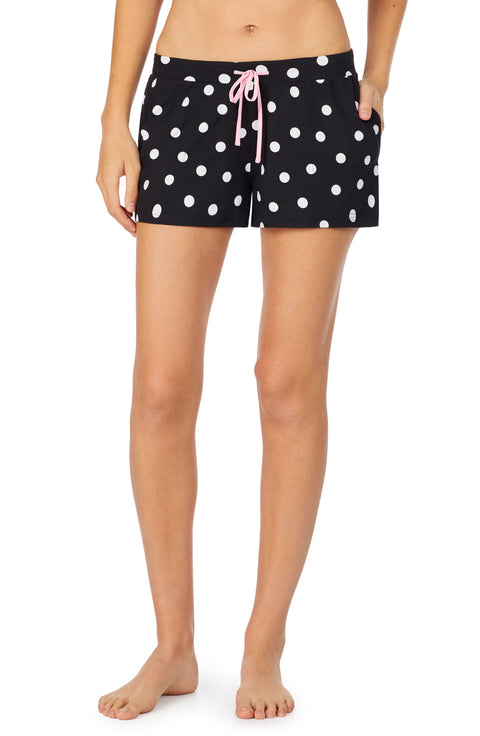 room service pjs black coin dot boxer pajama bottom