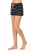 room service pjs black coin dot boxer loungewearbottom