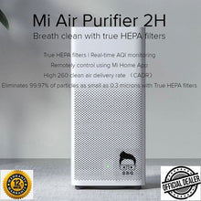 Load image into Gallery viewer, Mi Air Purifier 2H True HEPA Filters Real-time AQI Monitoring Mi Home App Control 1yr local warranty