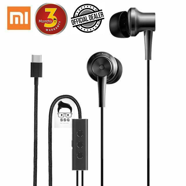 Xiaomi Mi ANC Noise Cancelling Earphones 3.5mm Jack 3months local Warranty