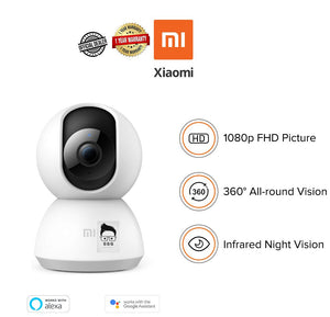 Xiaomi Mi Smart Webcam 360 Angle 1080P HD Night Vision (Global version) 1yr Local Warranty
