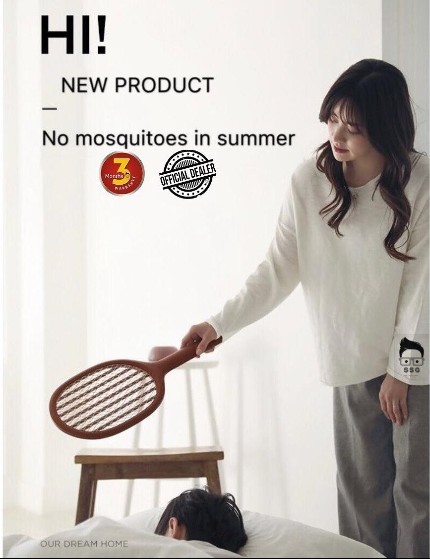 Mi Electric Mosquito Home Electric Fly Mosquito Swatter Mosquito Killer Bug Racket