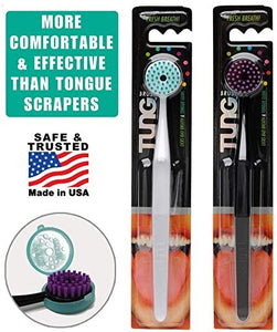 TUNG Brush with Cap - Tongue Cleaner (Colors Vary)