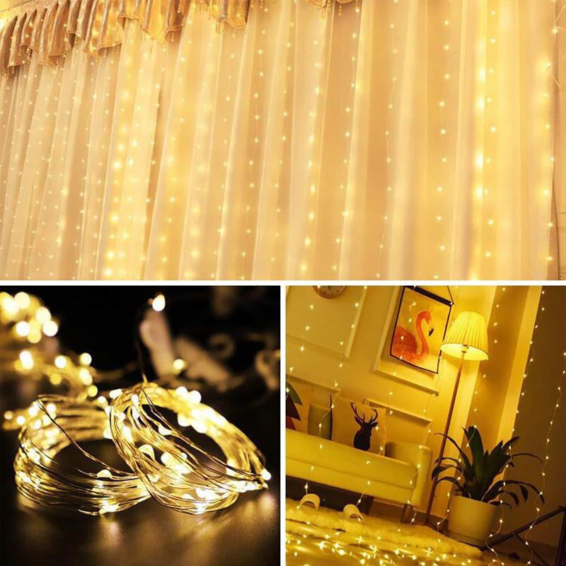 Christmas Decoration - RC USB Curtain String Lights - Ren's Homelights