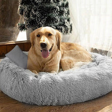 Load image into Gallery viewer, Warming Round Plush Pet Bed
