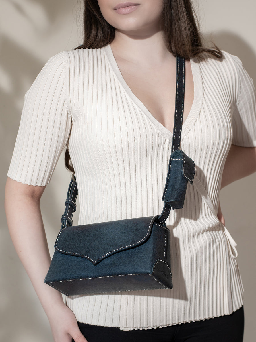 """Star"" cross body I with  Leather Shoulder Strap"