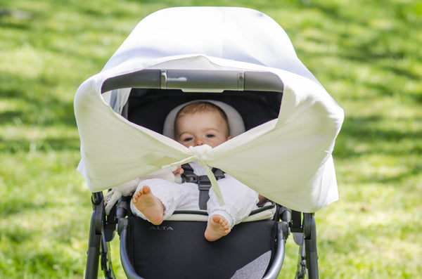 What should you look for in a baby sun shade for a pram?