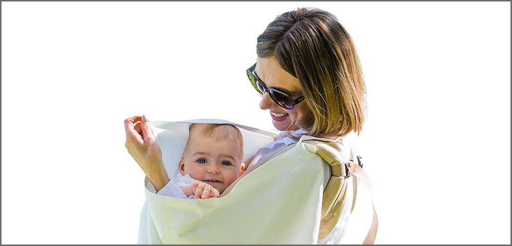 "Musluv as a ""square on"" baby carrier sun shade cover"