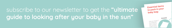 "Banner for the ""Ultimate Guide to Looking After Your Baby In the Sun"""