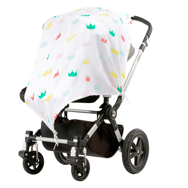 Cardboard Crowns Musluv Baby Sun Cover on stroller