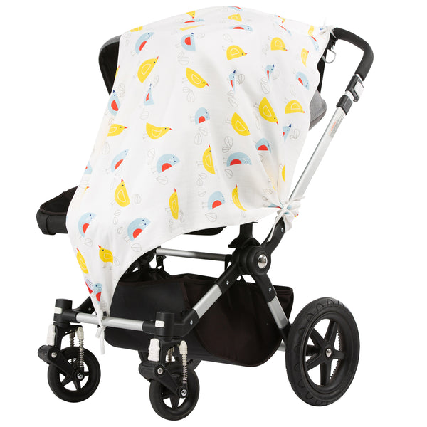 Fly Away Bird Musluv Baby Sun Cover on stroller