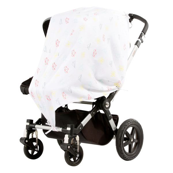 Paper Salad Multi Musluv Baby Sun Cover on stroller