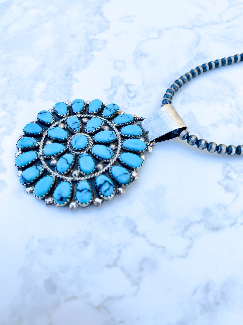 2in Blue Cluster Pendant
