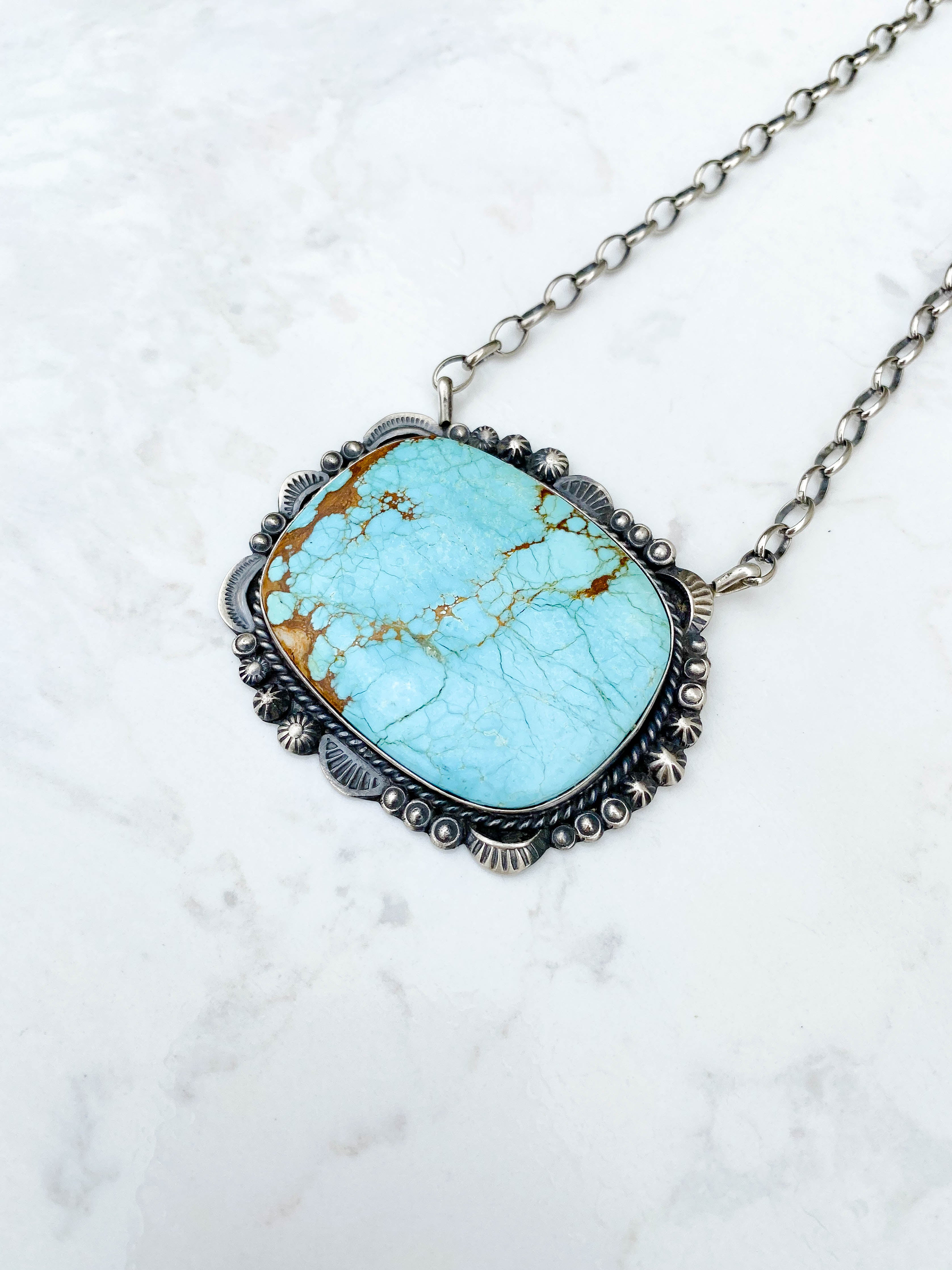 #8 Turquoise Statement Necklace