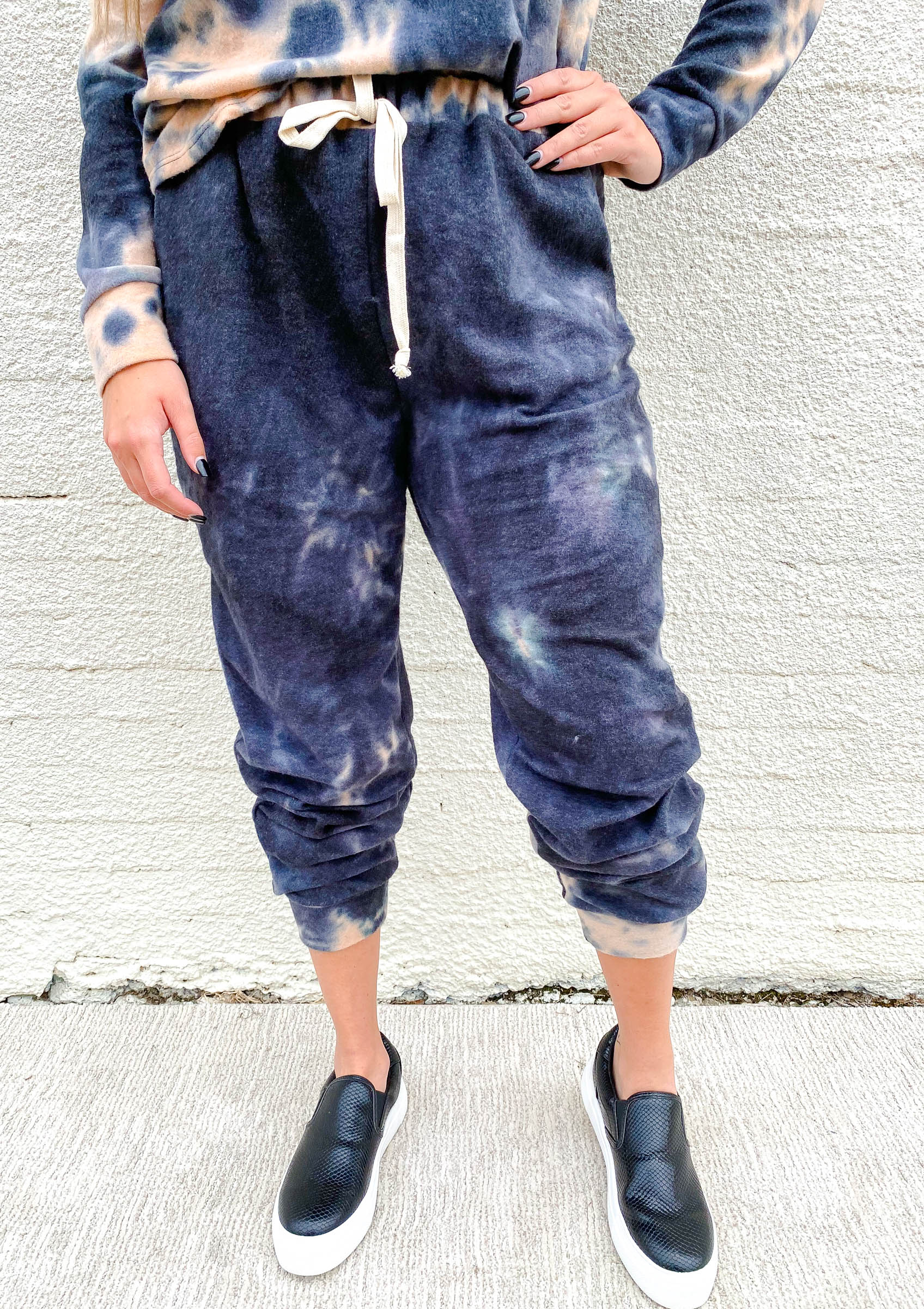 Black Acid Wash Jogger