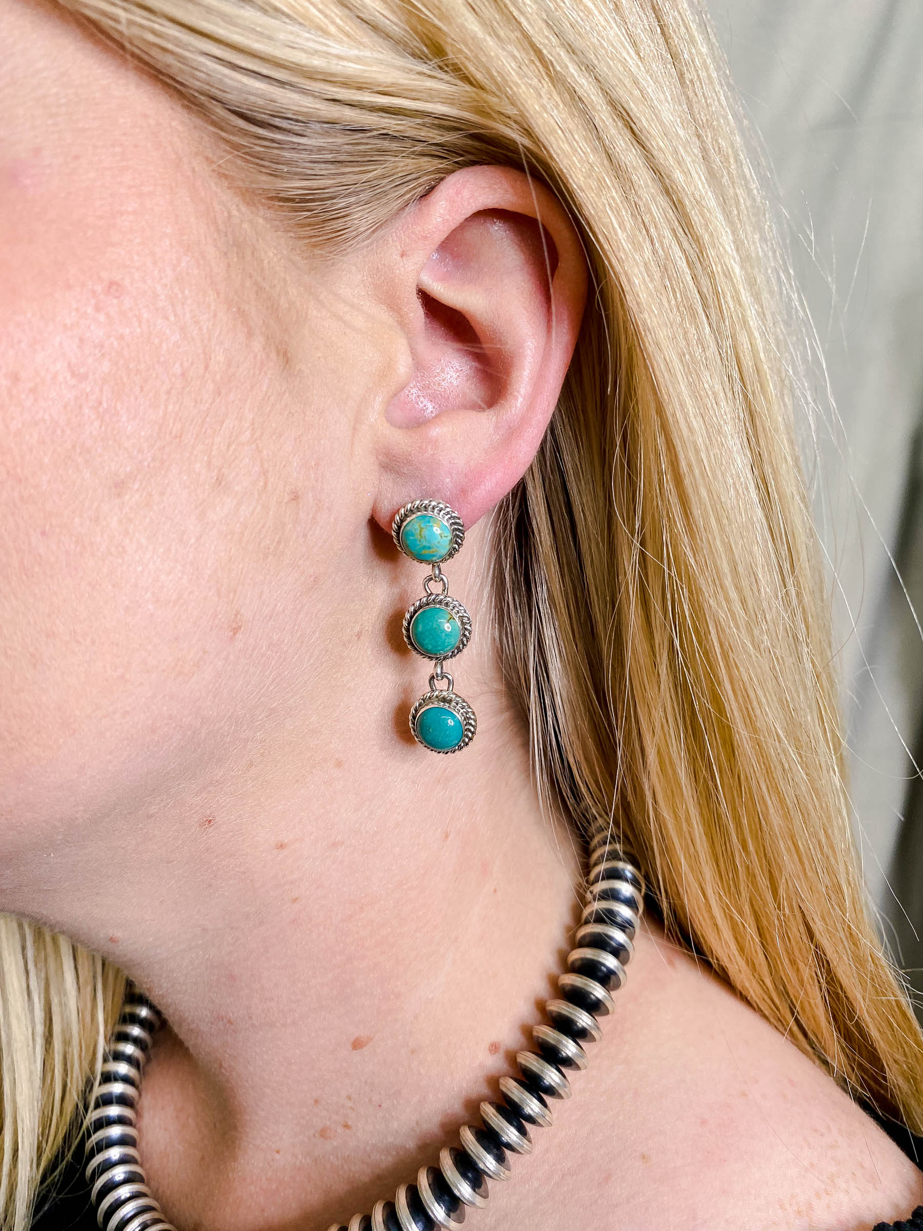 Turquoise Triple Threat Earring