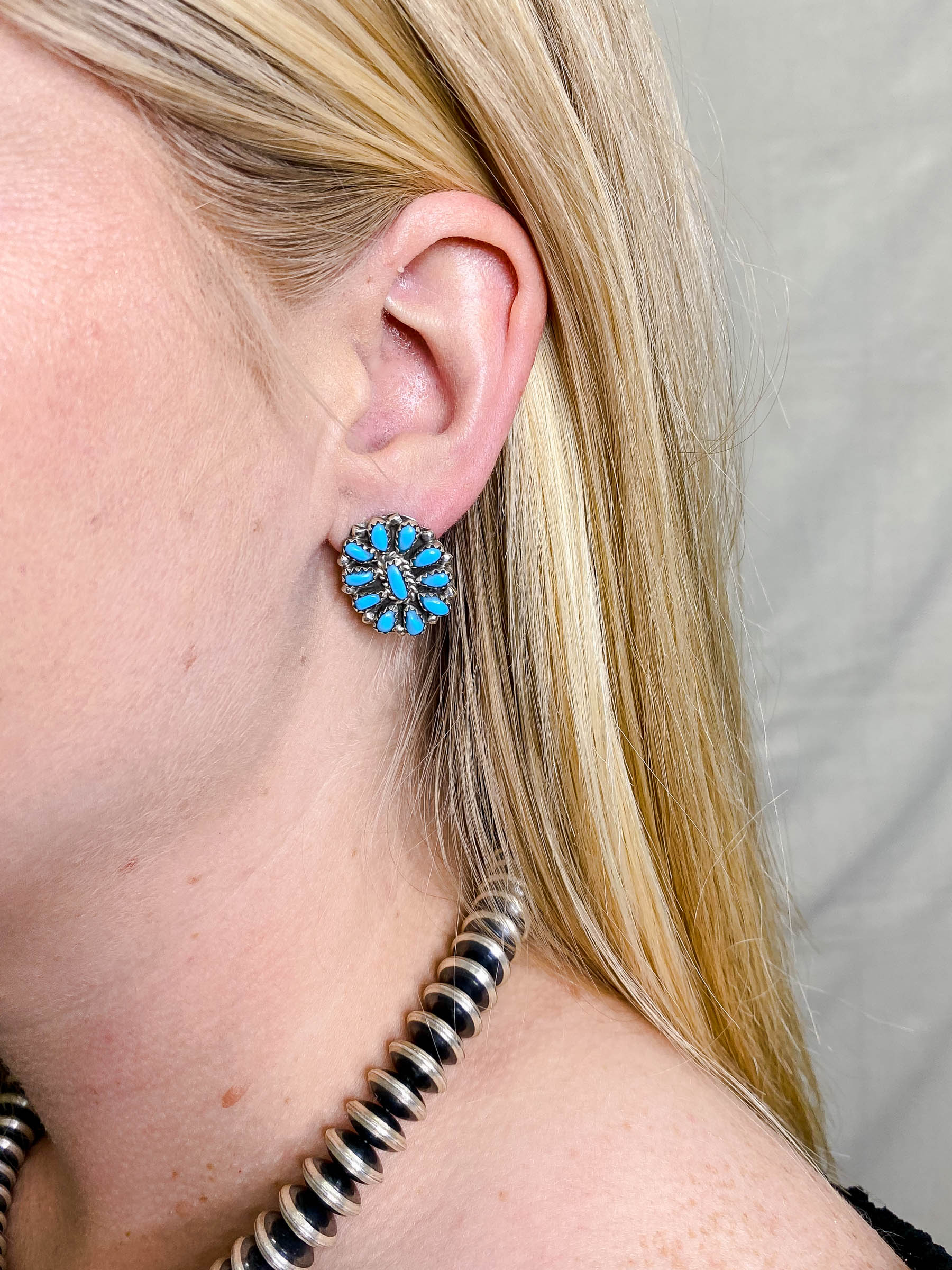 Mini Turquoise Cluster Studs