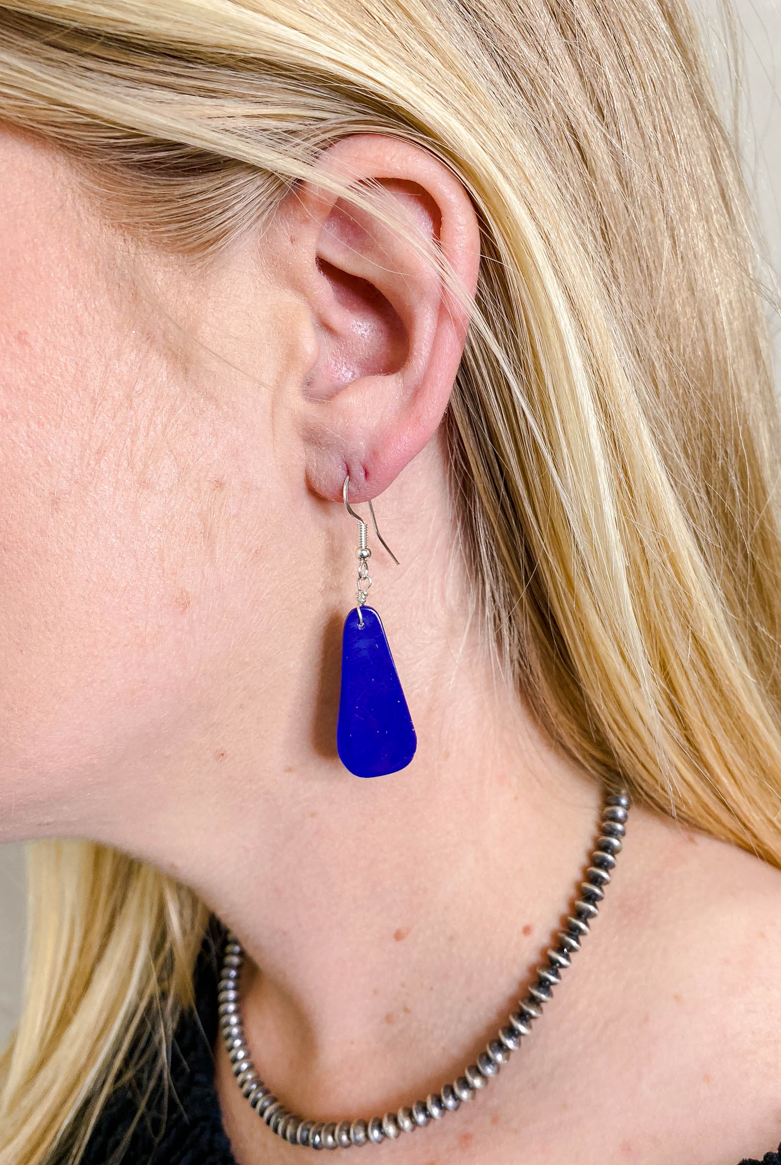Lapis Slab Earrings
