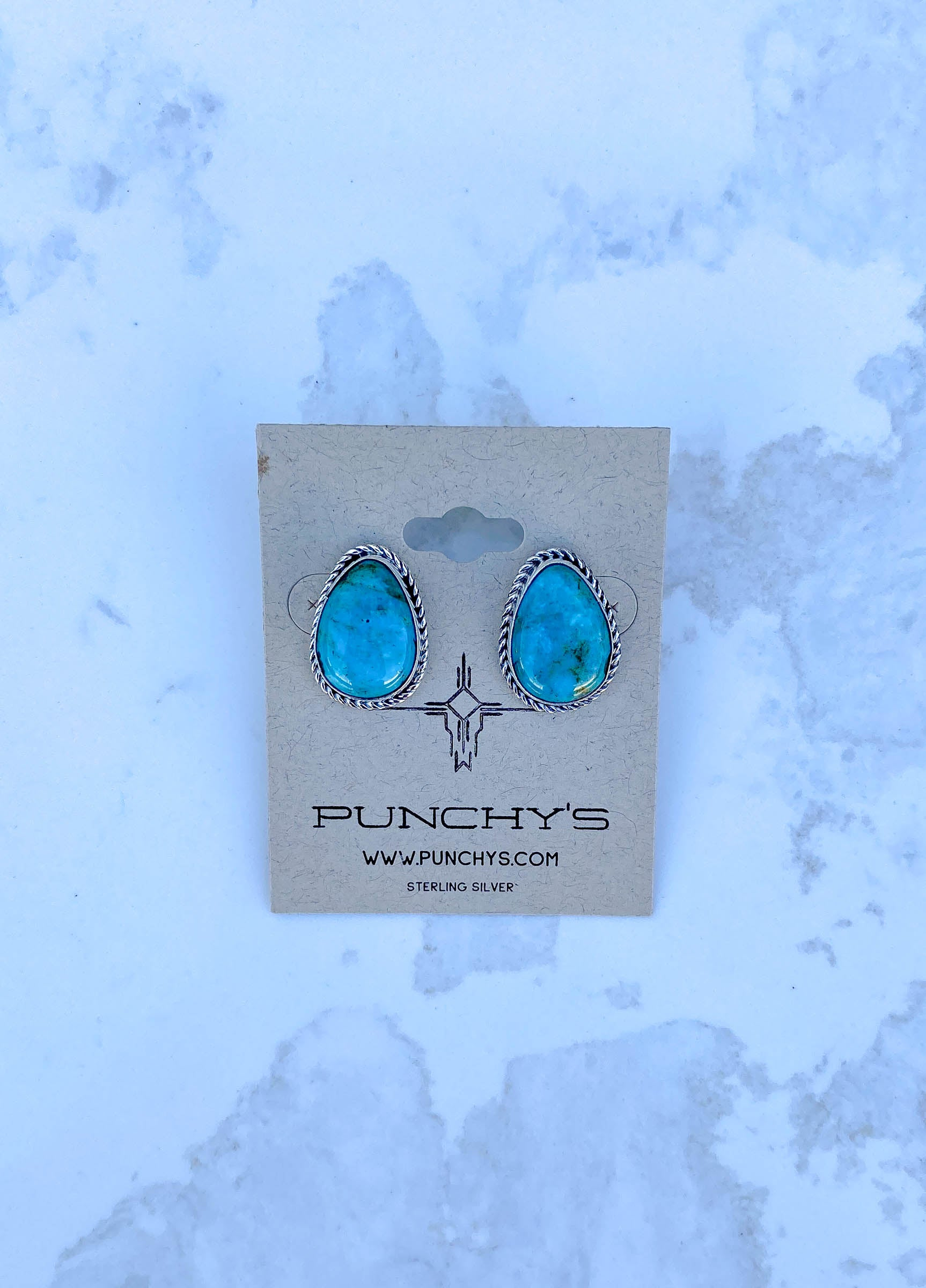 Blue Teardrop Rope Studs, #1 Mixed