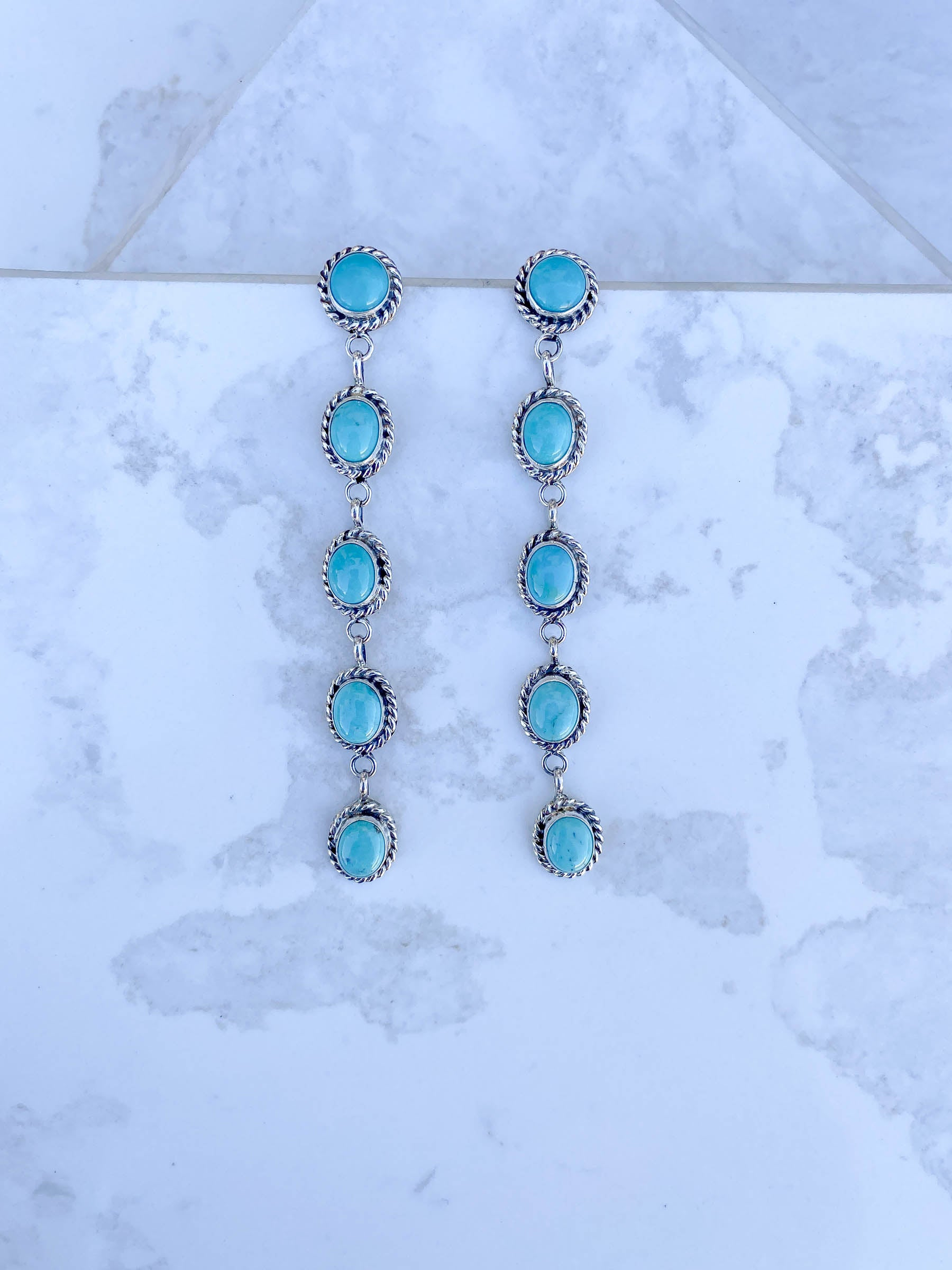 Hypnotized by Turquoise Linear Earring