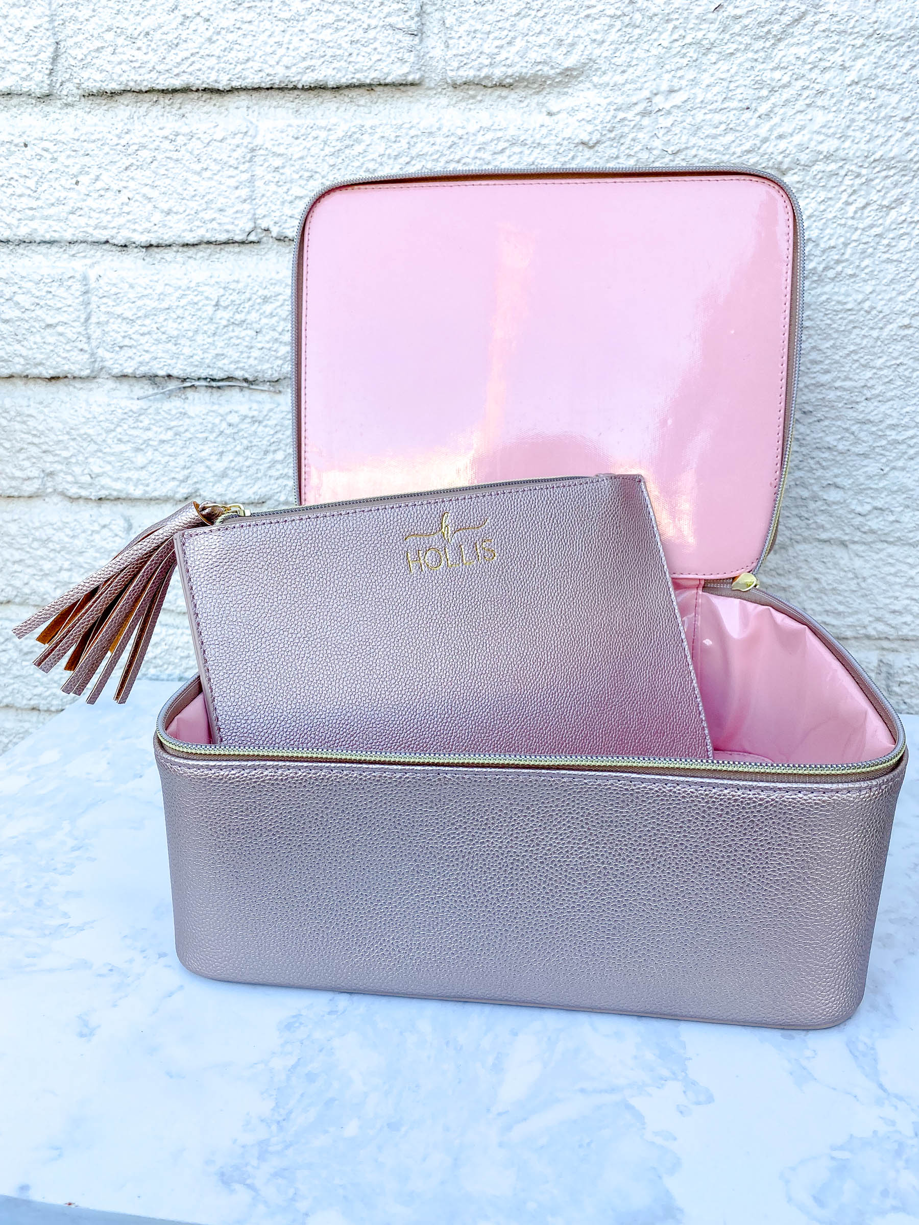 Rose Gold Makeup Organizer