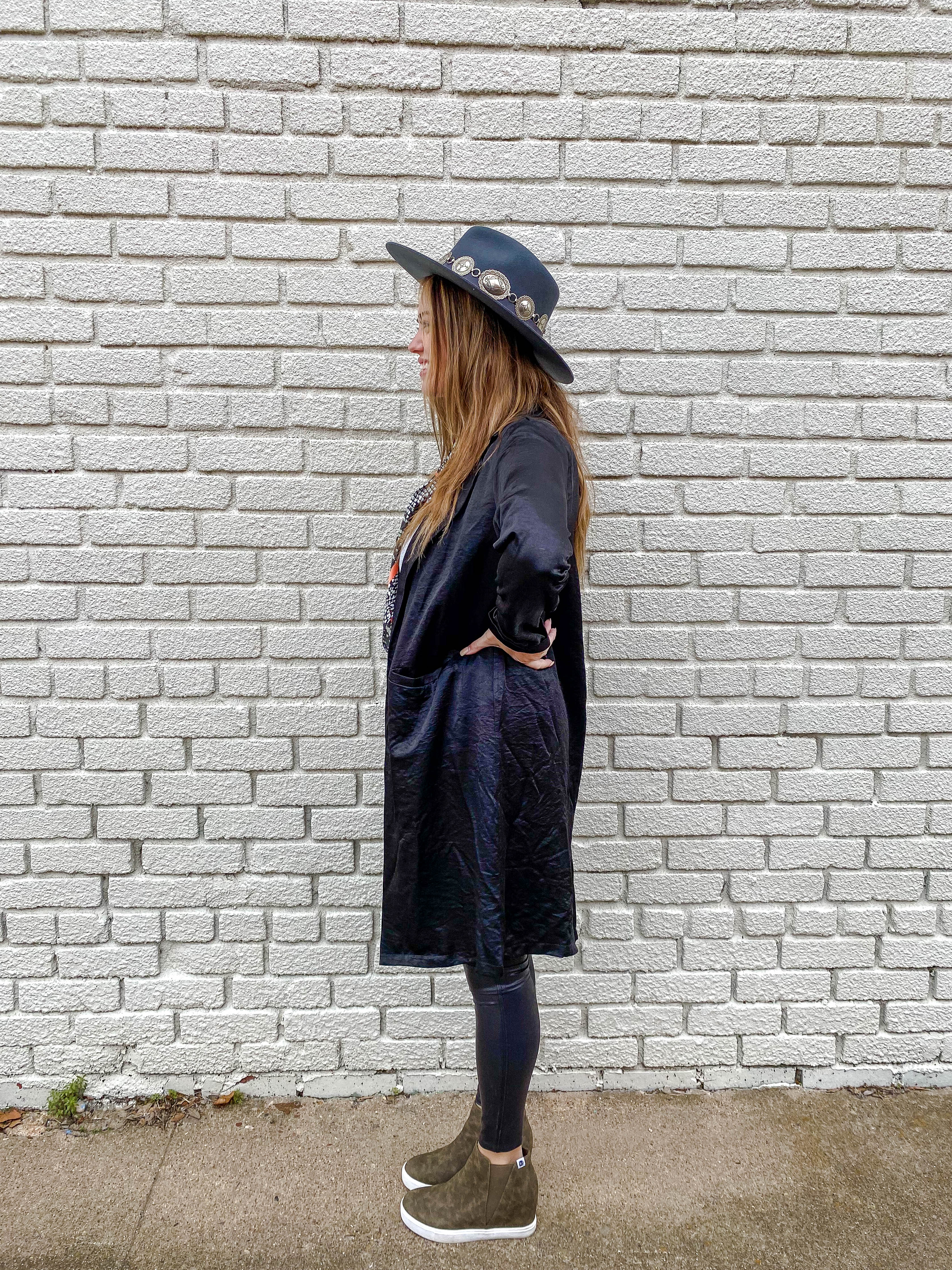 Black Collared Trench Coat