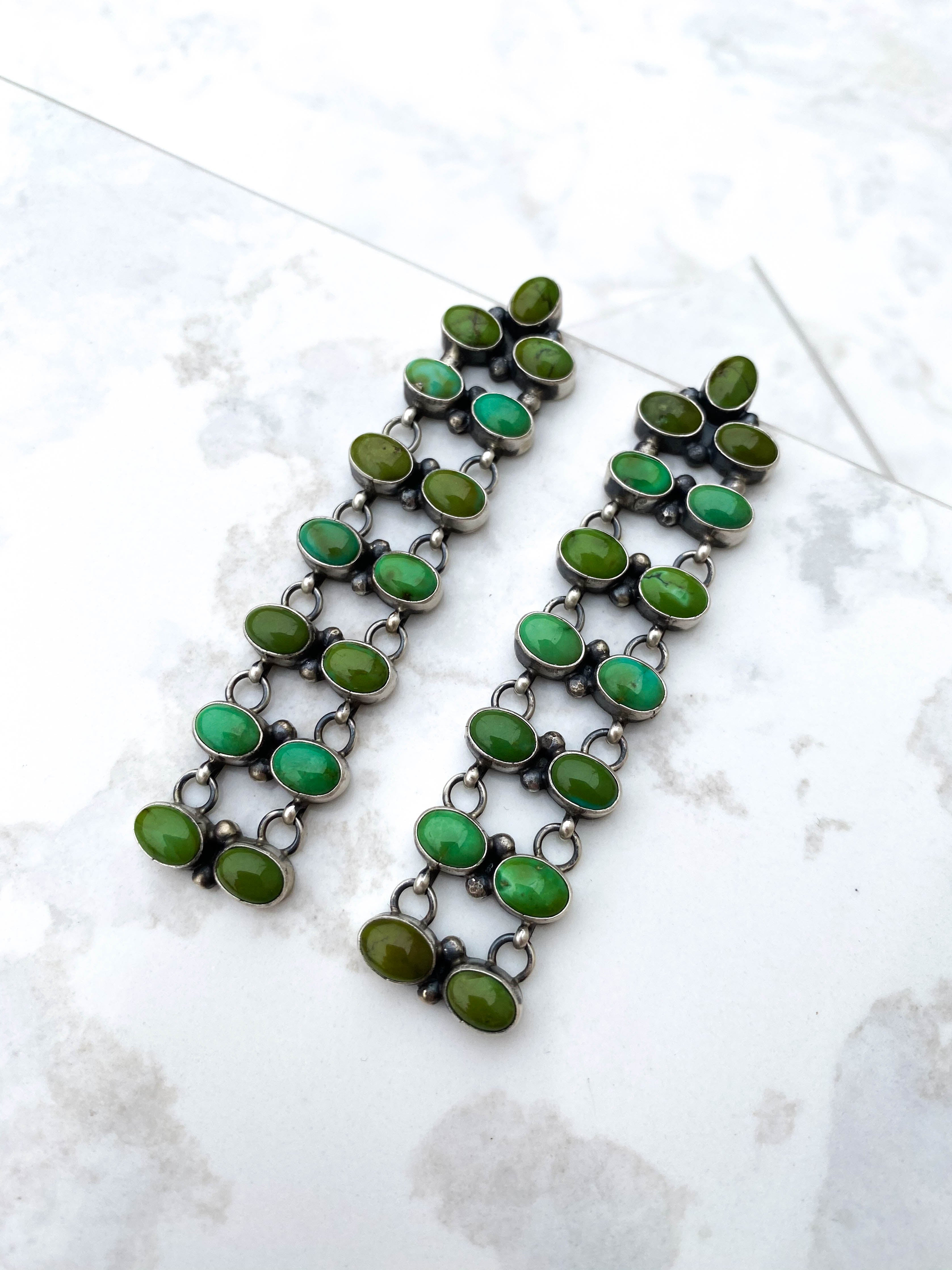 Green Goddess Turquoise Earrings