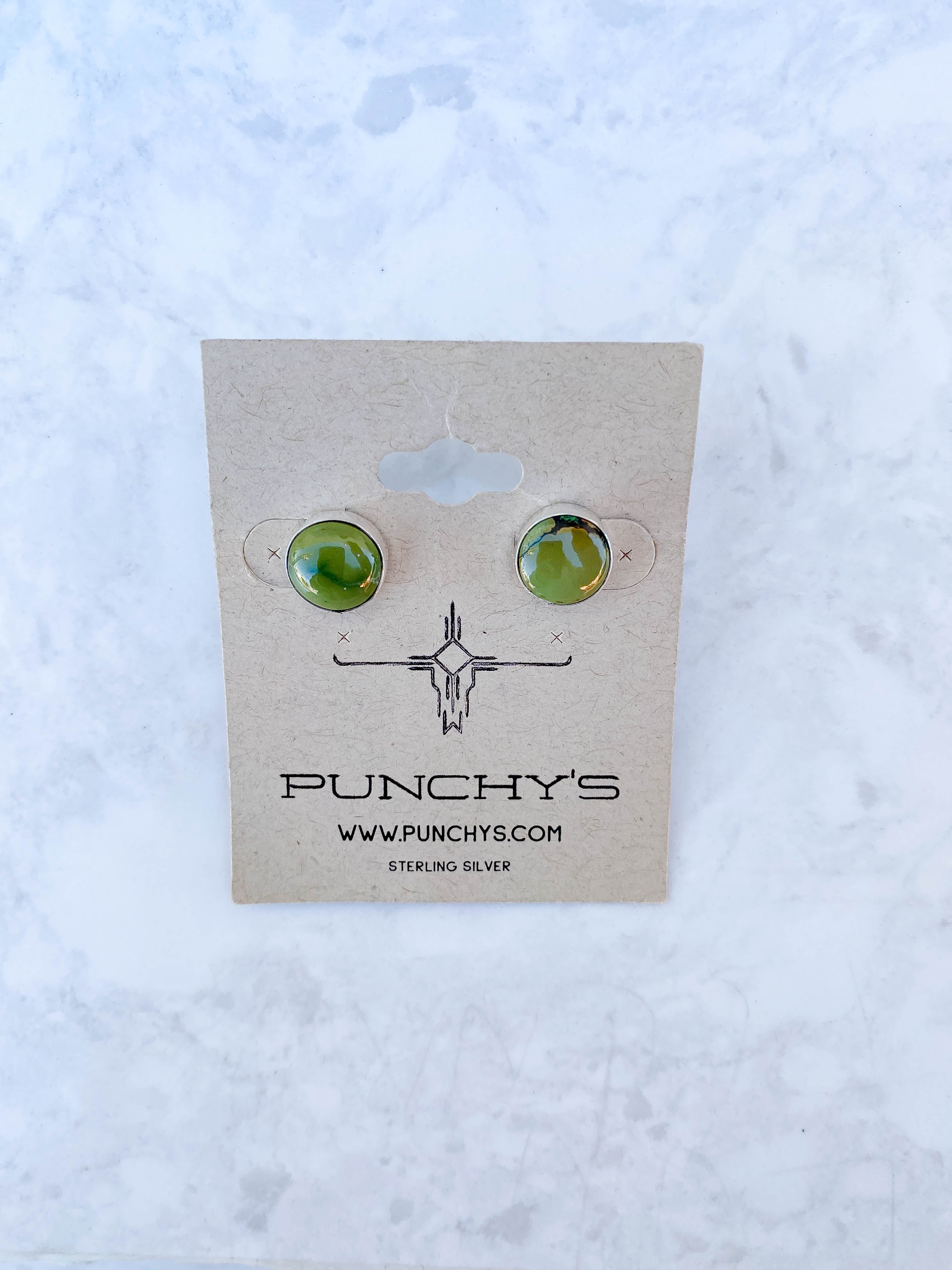 Large Molly Studs, Green