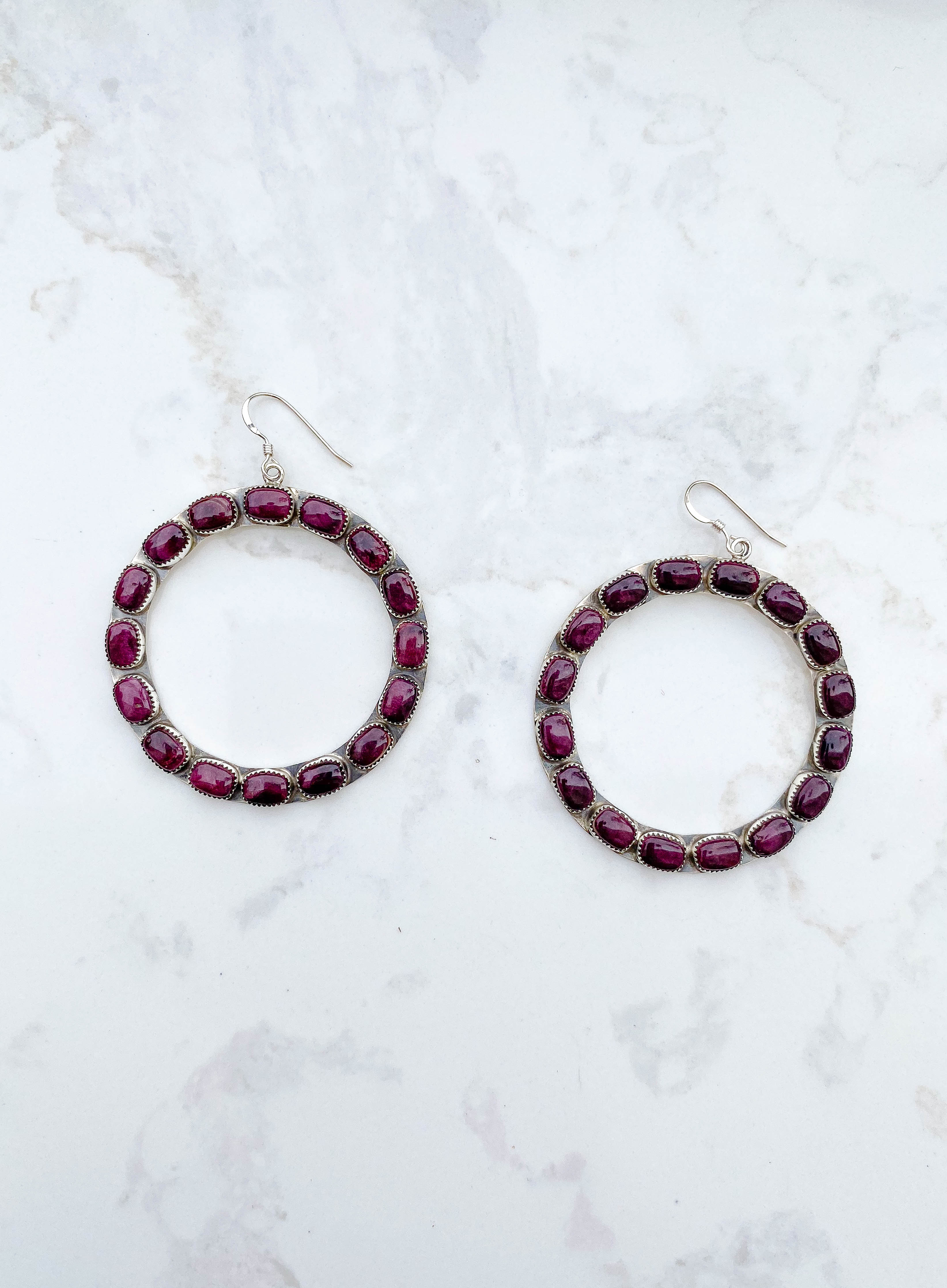 Purple Spiny Oyster Eternity Earring