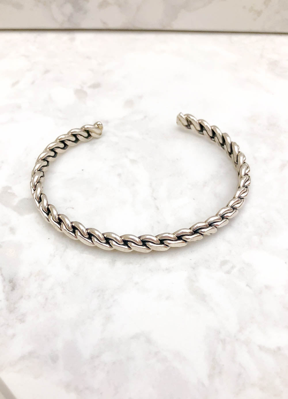 Sterling Silver Rope Stacker Cuff