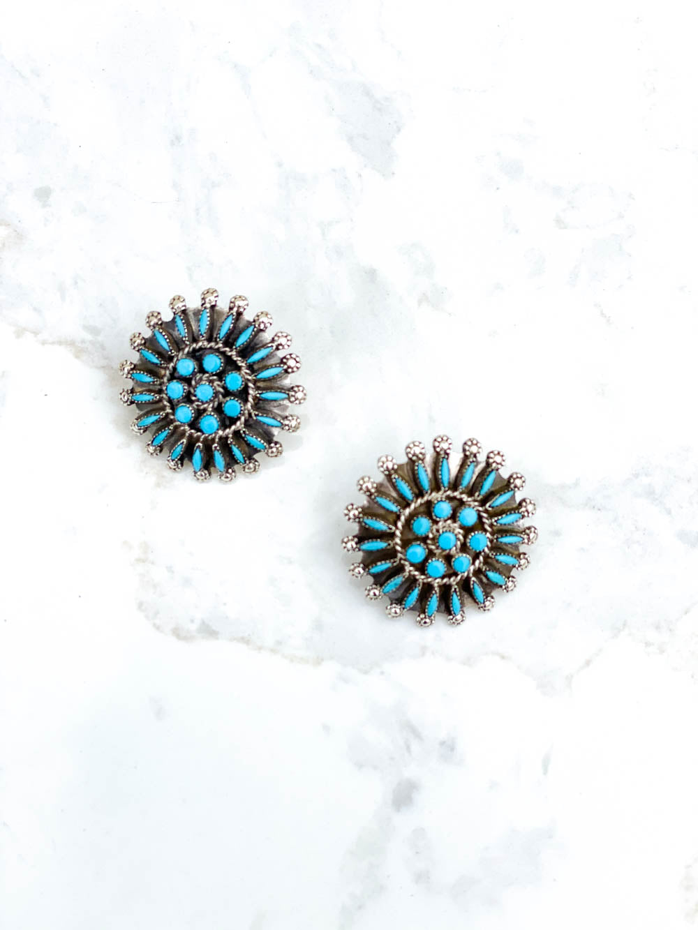 Turquoise Needlepoint Petite Clusters