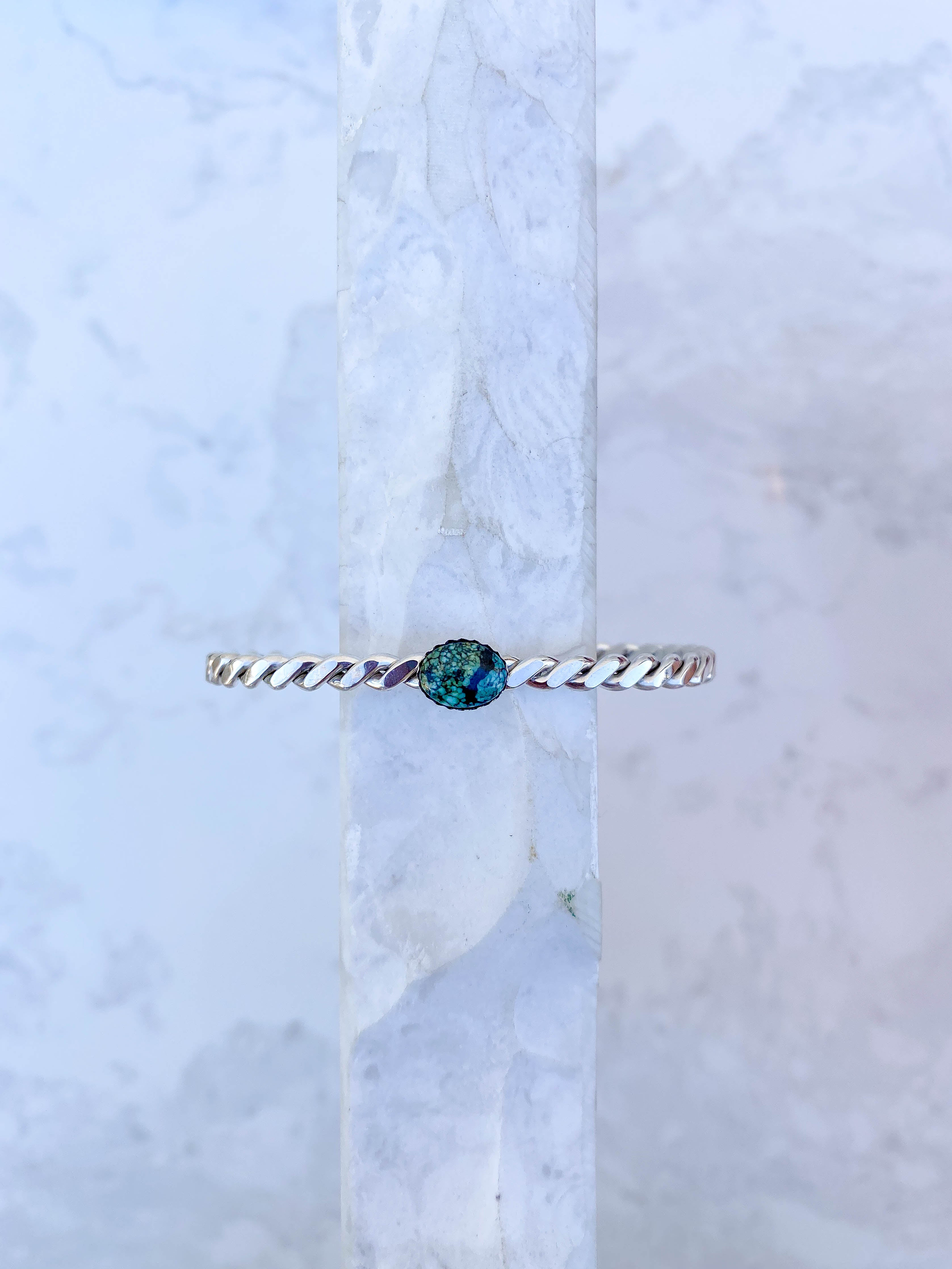 Twisted Rope Cuff with Turquoise, #3
