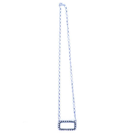 White Buffalo Dotted Bar Necklace