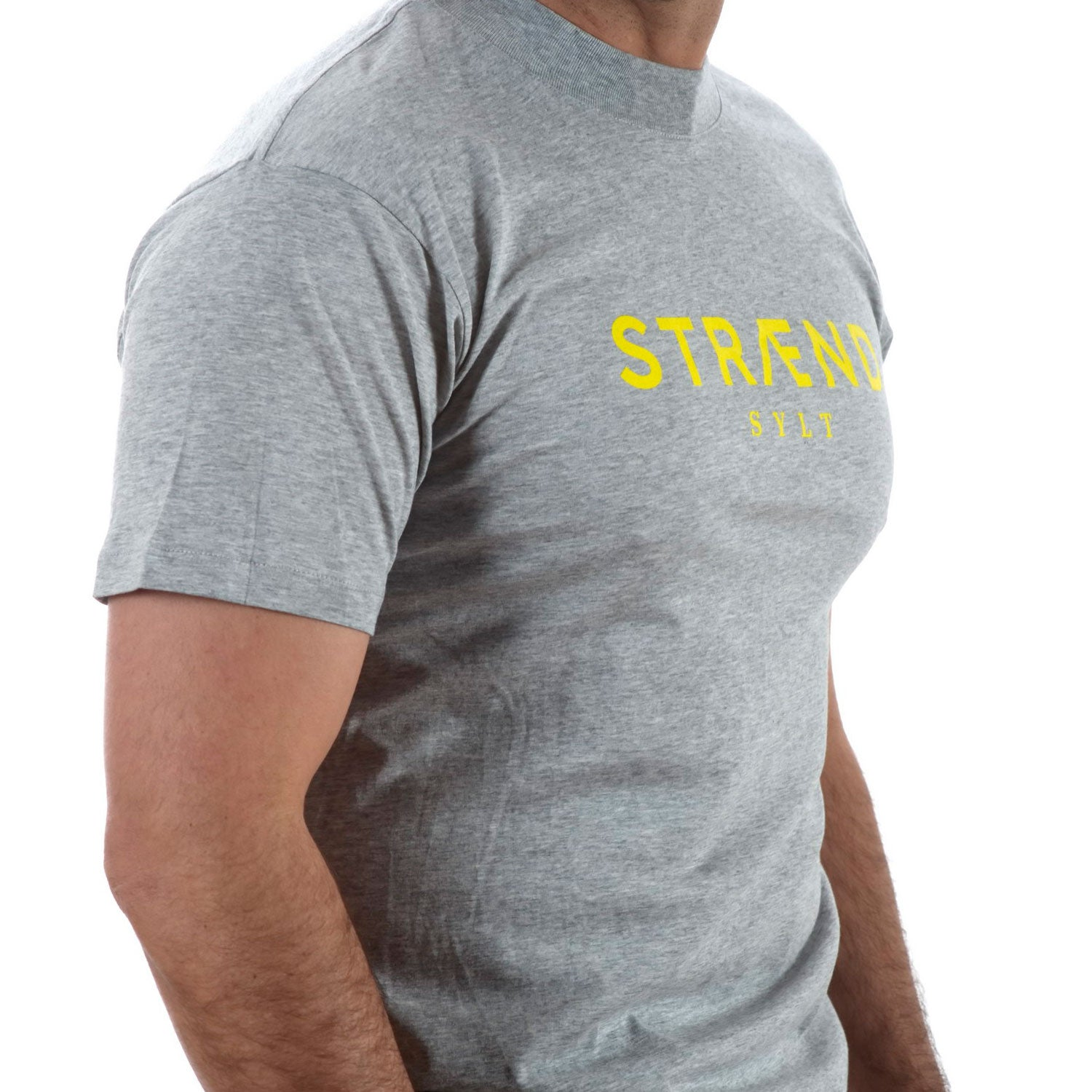 Herren T-Shirt STRÆND Grau grey links - Straend Shop Hörnum Sylt