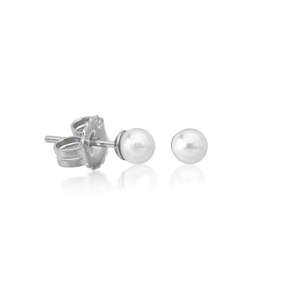 CIES PEARL 4MM EARRINGS-White
