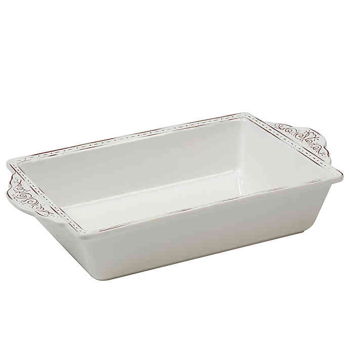 Terra Nova Rectangle Baking Dish in White