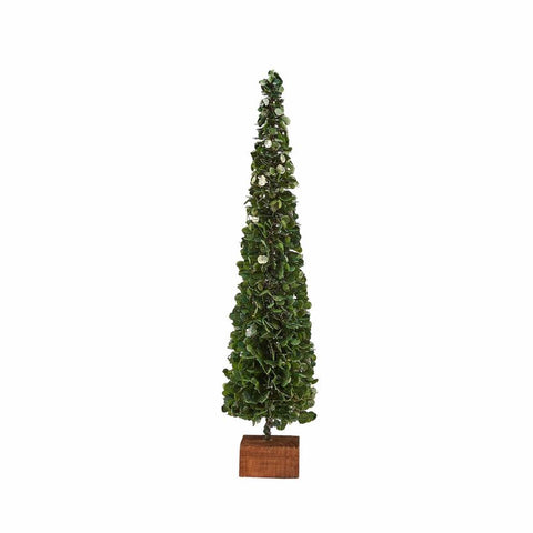 FAUX BOXWOOD TREE ON BLOCK-SMALL