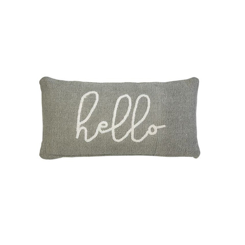 HELLO BOUCLE COTTON LUMBAR PILLOW
