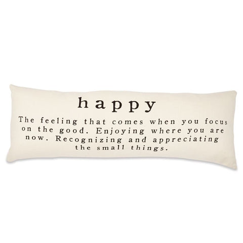 HAPPY DEFINITION COTTON LONG PILLOW