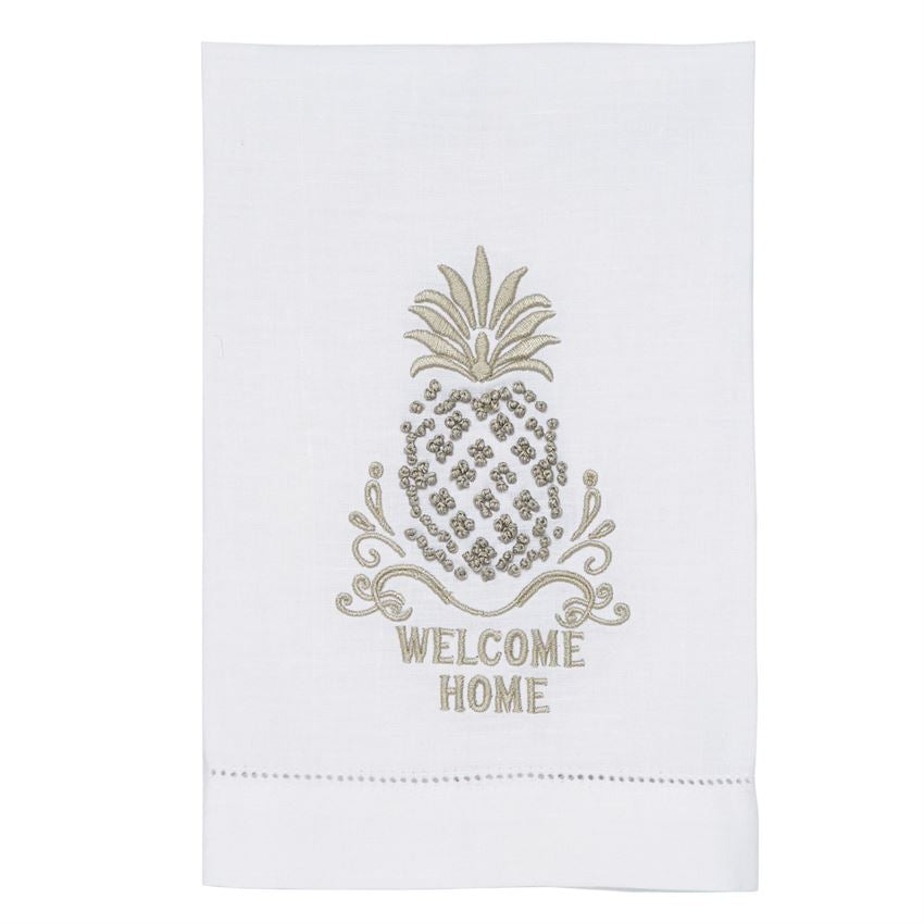 WELCOME HOME FRENCH KNOT PINEAPPLE TOWEL