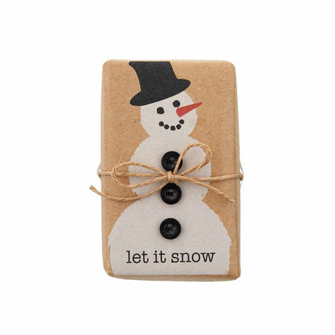 FUNNY SOAP WITH TRIMS-SNOWMAN