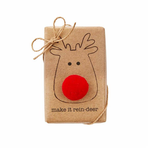 FUNNY SOAP WITH TRIMS-REINDEER