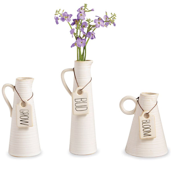 TALL TAG PITCHER VASE